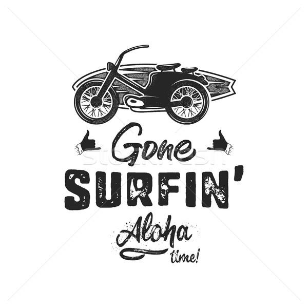 Vintage estate tshirt surf aloha Foto d'archivio © JeksonGraphics