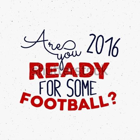 Francia Europa 2016 fútbol etiqueta fútbol Foto stock © JeksonGraphics