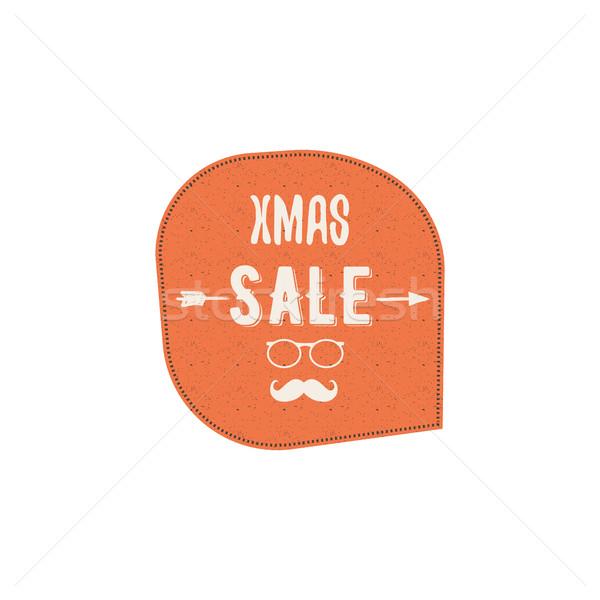 Navidad año nuevo venta etiqueta etiqueta invierno Foto stock © JeksonGraphics