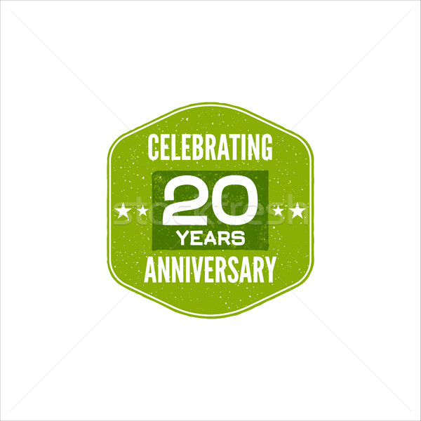 Celebrating 20 years anniversary badge, sign and emblem. Retro design. Easy to edit and use your num Stock photo © JeksonGraphics