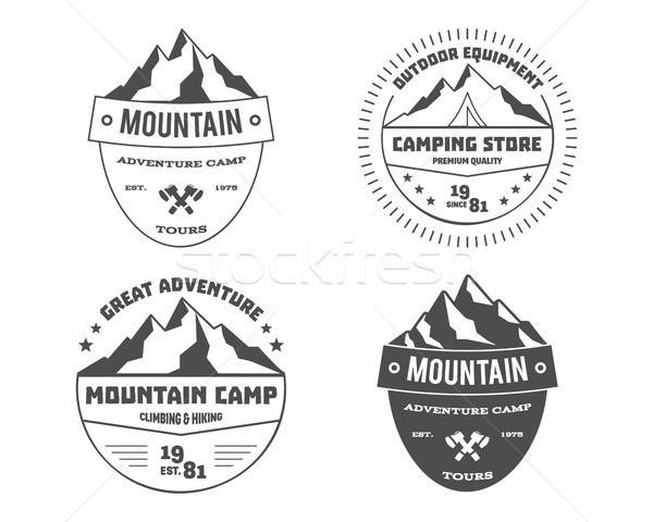 Monochrome extérieur aventure montagne randonnée Photo stock © JeksonGraphics