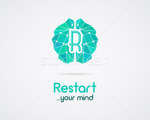 Brainstorm, brain, creation and idea logo template and elements. Restart mind, idea creation busines Stock photo © JeksonGraphics