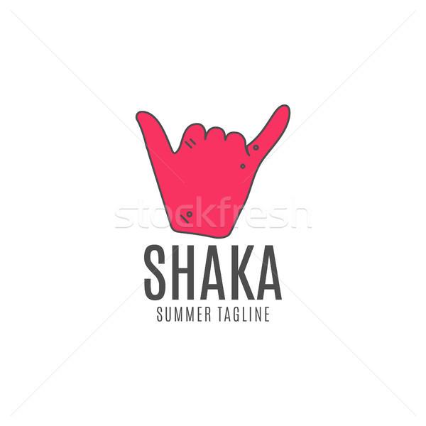 вектора логотип икона серфинга символ поиск Сток-фото © JeksonGraphics