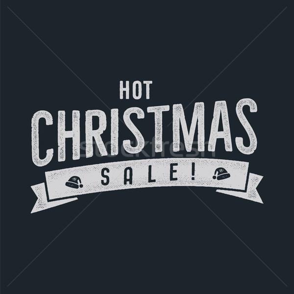 ホット クリスマス 販売 タイポグラフィ 要素 休日 ストックフォト © JeksonGraphics