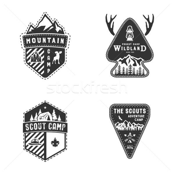 Reizen badges outdoor activiteit logo collectie Stockfoto © JeksonGraphics