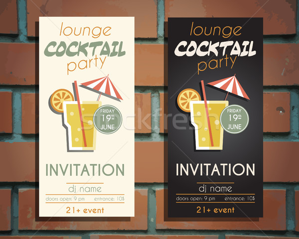 Lounge cocktail party flyer invito modello vite Foto d'archivio © JeksonGraphics