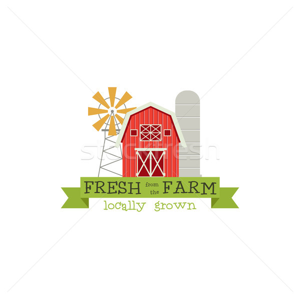 Fresh from the Farm concept logo. Stock Vector illustration. Stock photo © JeksonGraphics