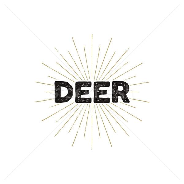 Herten typografie insigne tekst geïsoleerd witte Stockfoto © JeksonGraphics