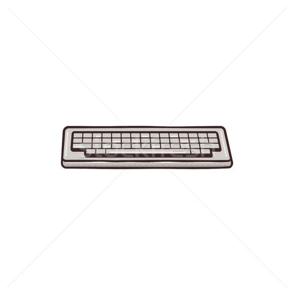 Vintage teclado misto retro projeto Foto stock © JeksonGraphics
