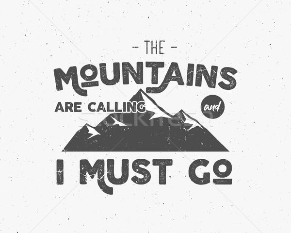 Ao ar livre inspiração motivação montanha folheto citar Foto stock © JeksonGraphics
