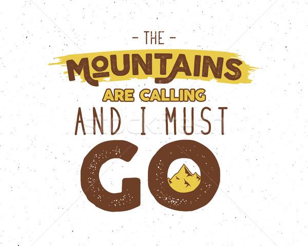 Aire libre inspiración motivación montana folleto citar Foto stock © JeksonGraphics