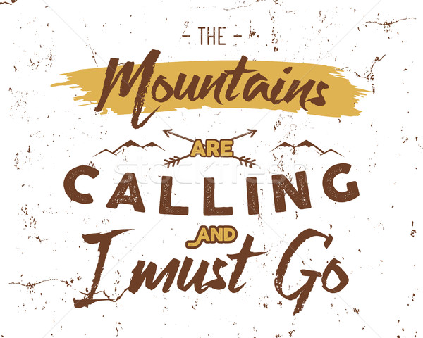 Outdoor inspiration background. Motivation mountain brochure quote template. Winter snowboard sport  Stock photo © JeksonGraphics