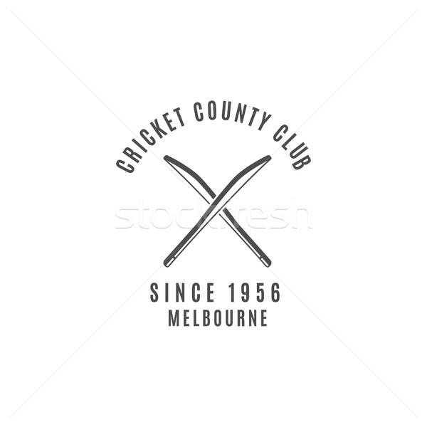 Kriket kulüp amblem dizayn elemanları logo Stok fotoğraf © JeksonGraphics
