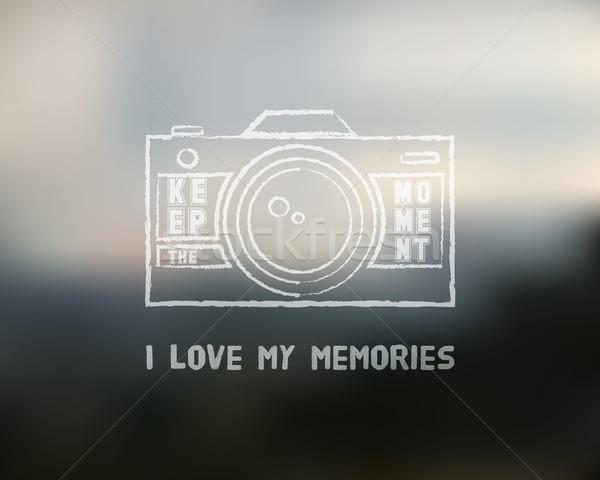 Migawka ikona projektowanie logo szablon kluczowych słowa Zdjęcia stock © JeksonGraphics