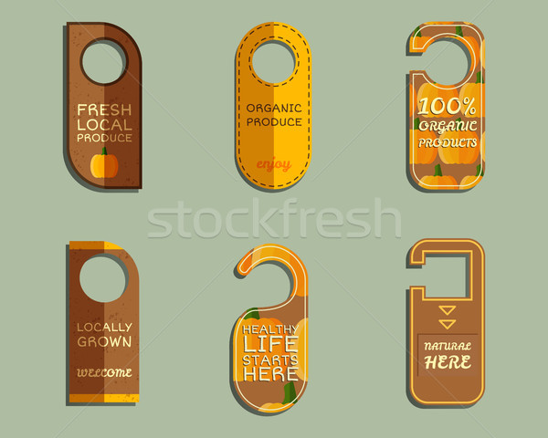 фермы свежие марка двери Знак Сток-фото © JeksonGraphics