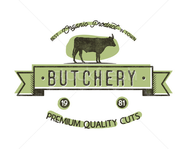 Butchery Shop vintage emblem. Butchery store Logo template retro style. Vintage design for logotype, Stock photo © JeksonGraphics