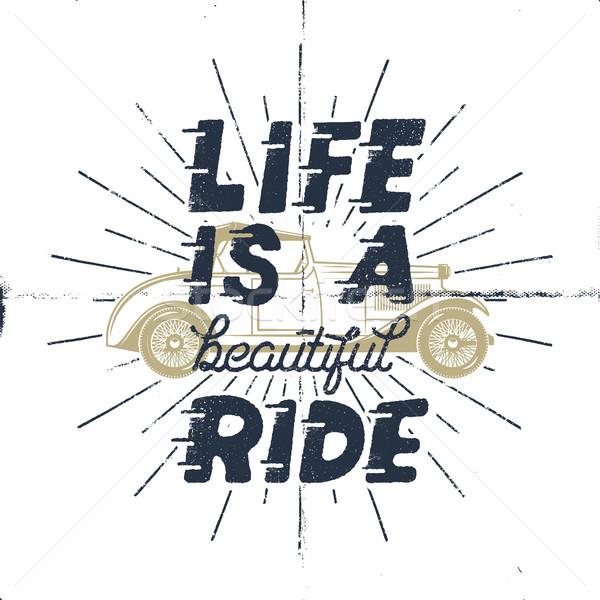élet gyönyörű ösztönző kreatív motiváció idézet Stock fotó © JeksonGraphics
