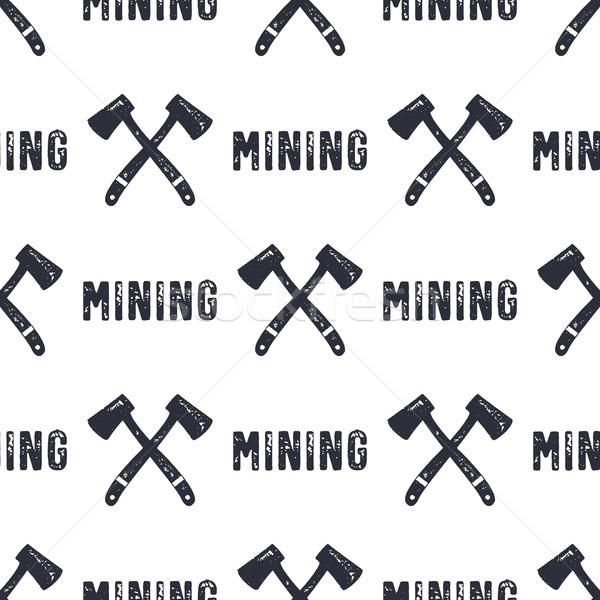 Dessinés à la main minière peuvent utilisé or Photo stock © JeksonGraphics