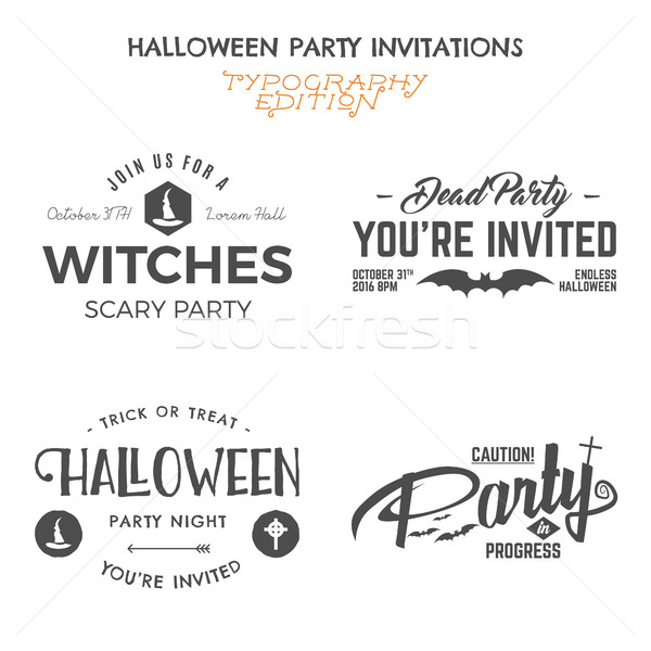 Halloween 2016 etykiety szablony wakacje Zdjęcia stock © JeksonGraphics