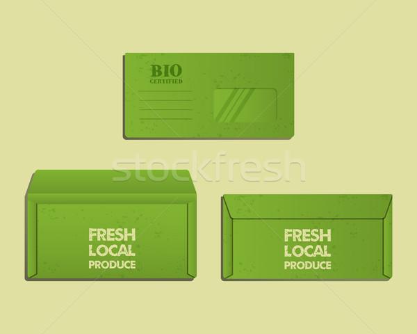 марка личности шаблон конверт назад Сток-фото © JeksonGraphics