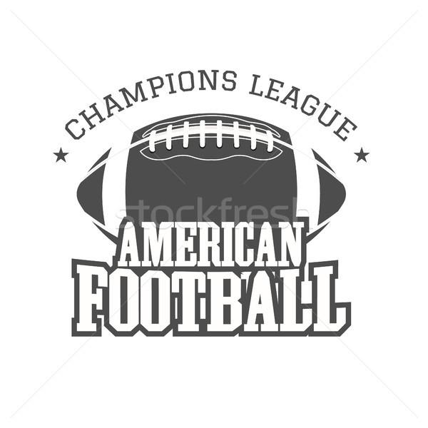 Amerikaanse voetbal competitie badge logo label Stockfoto © JeksonGraphics