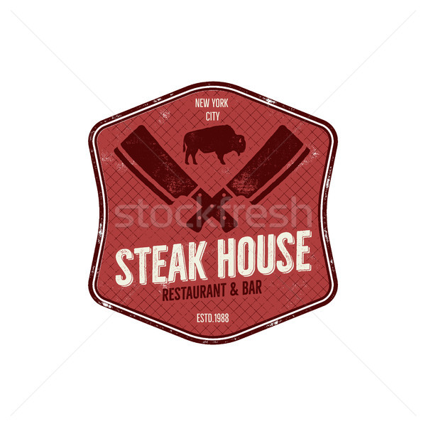 Butcher symbol stock photos stock images and vectors for Classic house labels