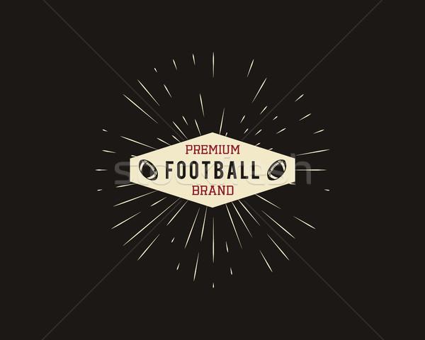 Klasszikus amerikai futball rögbi címke embléma Stock fotó © JeksonGraphics
