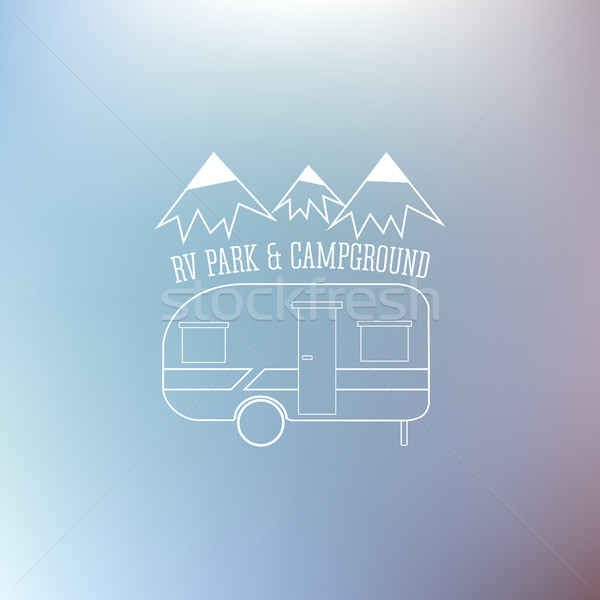 RV and Caravan Park Template.  Stock photo © JeksonGraphics