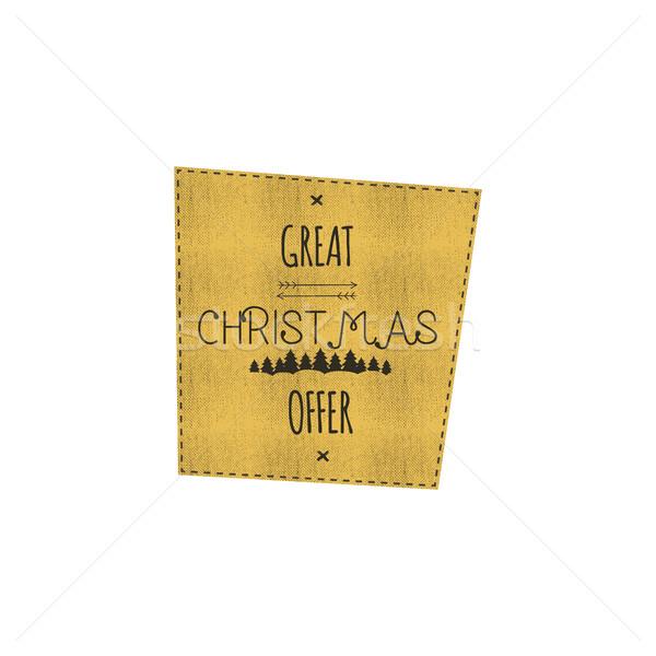Noël nouvelle année vente étiquette tag hiver Photo stock © JeksonGraphics