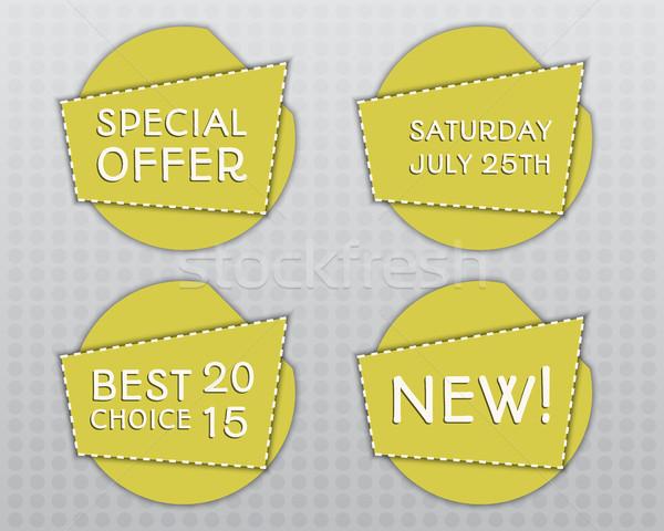 специальное предложение желтый дизайн шаблона тень необычный Сток-фото © JeksonGraphics