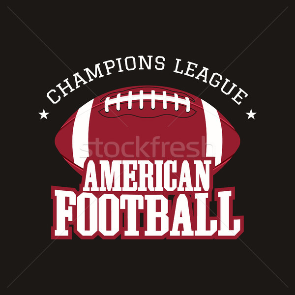 American football champions league badge, logo, label, insignia in retro color style. Graphic vintag Stock photo © JeksonGraphics