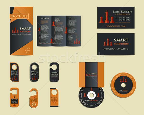 Smart solutions business branding identity set. Flyer, brochure, cd, business card. Best for managem Stock photo © JeksonGraphics