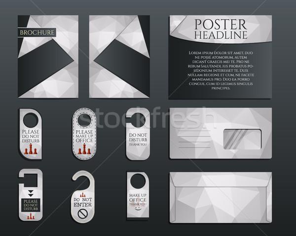 Iş kurumsal marka kimlik ayarlamak broşür Stok fotoğraf © JeksonGraphics