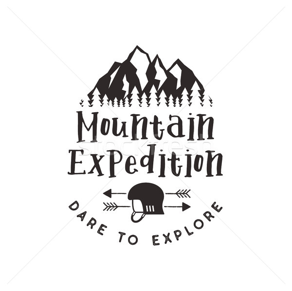 山 遠征 ラベル 登山 シンボル タイプ ストックフォト © JeksonGraphics