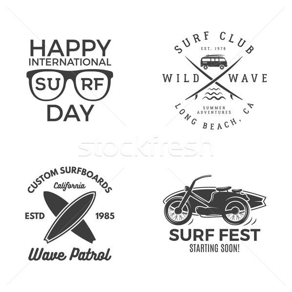 Vintage surfen graphics web design print surfer Stockfoto © JeksonGraphics