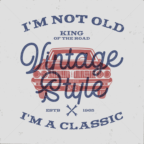 70 Birthday Anniversary Gift T-Shirt. I m not Old I m a Classic, King of the Road words with classic Stock photo © JeksonGraphics