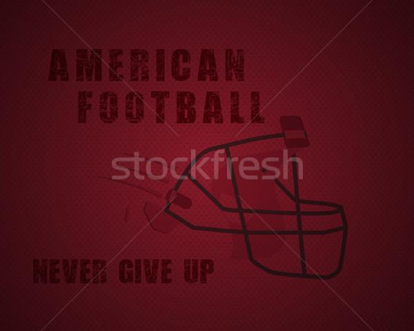 Moderno unico americano calcio poster motivazione Foto d'archivio © JeksonGraphics