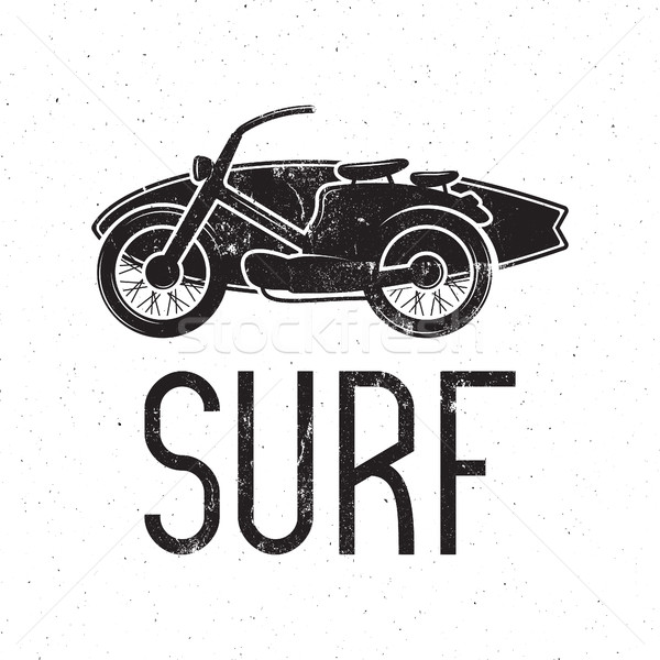 Vintage Surfing tee design. Retro Surf fest t-shirt Graphics and Emblem for web design or print. Sur Stock photo © JeksonGraphics