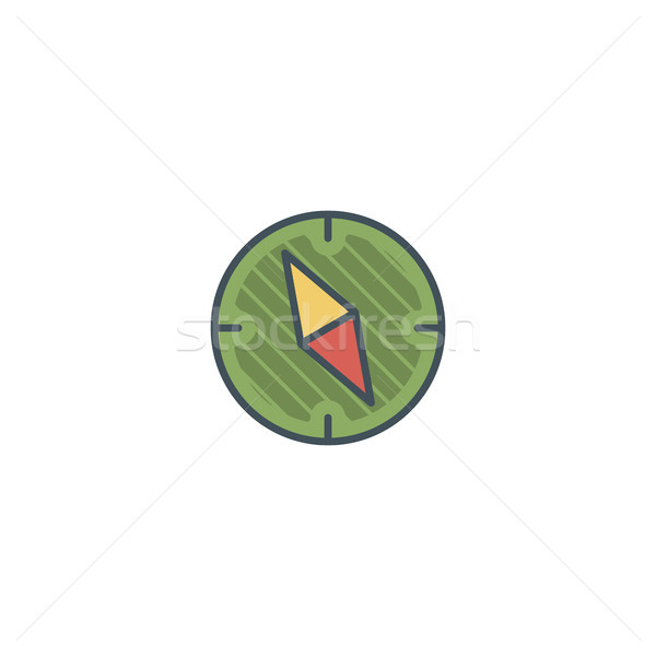 Camping vintage compass icon. design. Use on logo templates, infographics and so on. Hiking trail, b Stock photo © JeksonGraphics