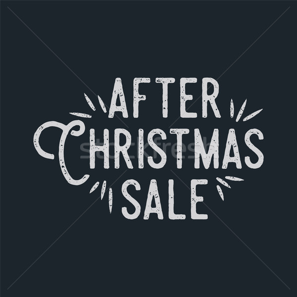 After Christmas sale lettering and typography elements. Holiday Online shopping type quote. Stock ve Stock photo © JeksonGraphics