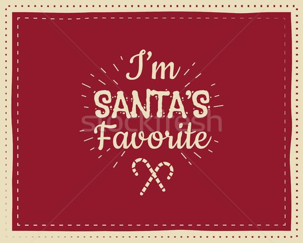 Рождества уникальный смешные знак цитировать дизайна Сток-фото © JeksonGraphics