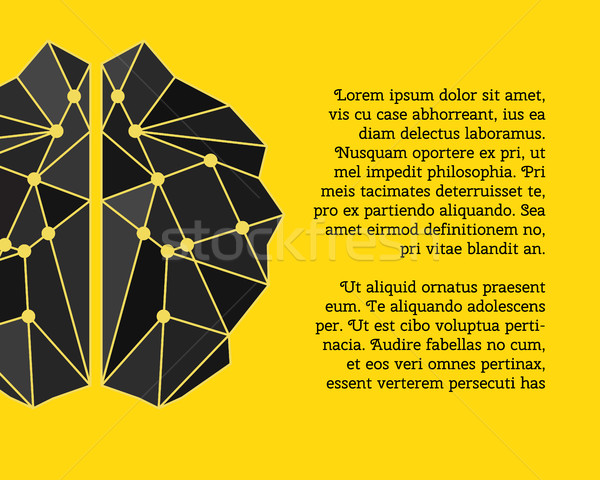 Brainstorming creier creare idee poster sablon Imagine de stoc © JeksonGraphics