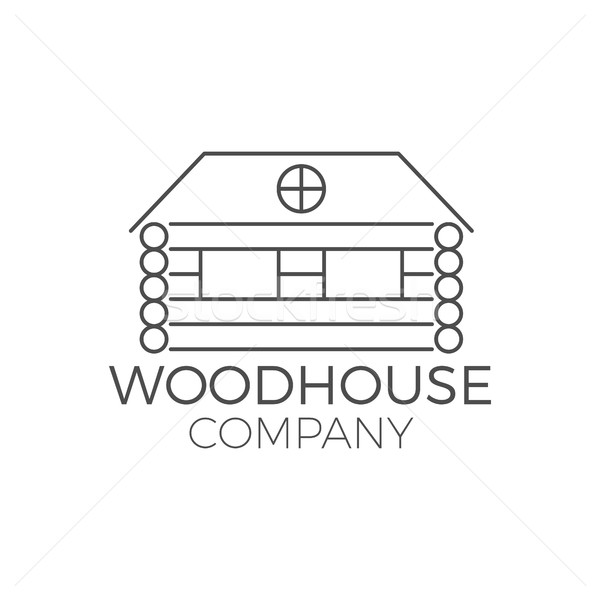 Vector wood house logo design, real estate icon suitable for info graphics, websites and print media Stock photo © JeksonGraphics