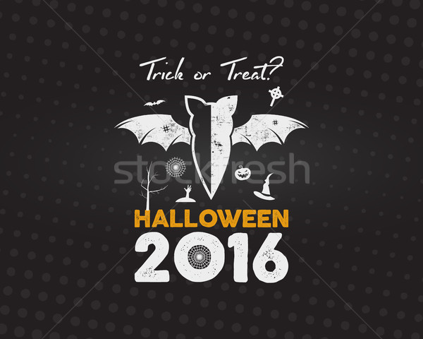 Heureux halloween 2016 affiche astuce Photo stock © JeksonGraphics