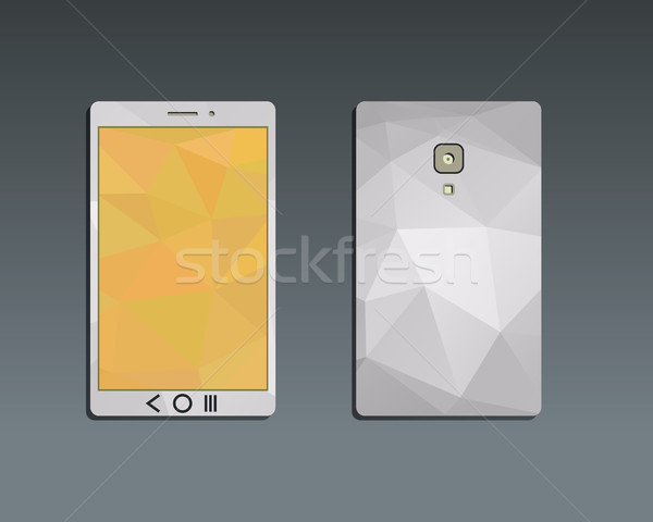 Flat Mobile device and smart phone. Best for management consulting, finance, companies. Unusual and  Stock photo © JeksonGraphics