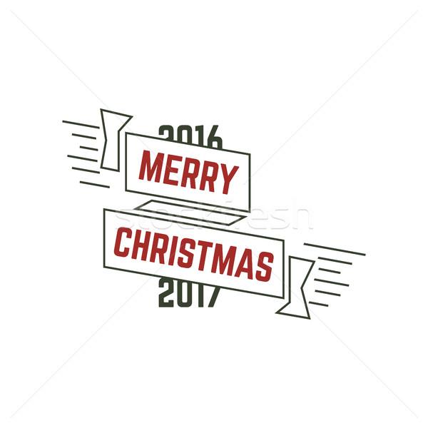 Neşeli Noel matbaacılık imzalamak kaligrafi Stok fotoğraf © JeksonGraphics