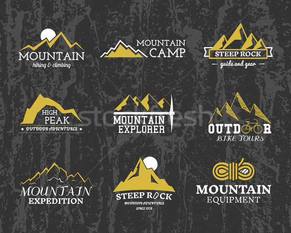 été hiver montagne explorateur camp Photo stock © JeksonGraphics