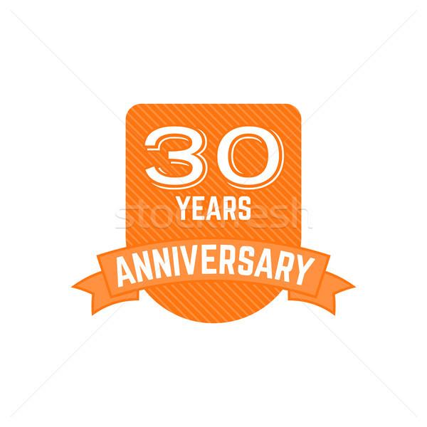 Photo stock: 30 · années · anniversaire · badge · signe · emblème · style