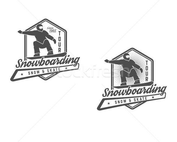 Set of Snowboarding logo, label templates. Winter sport badges. Extreme Emblem and icon. Adventure i Stock photo © JeksonGraphics