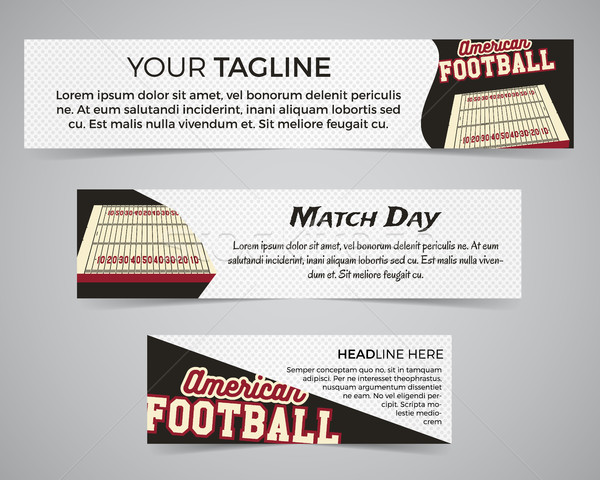 Set of American football banner template with soccer logo, label and badge. Stylish bright identity  Stock photo © JeksonGraphics